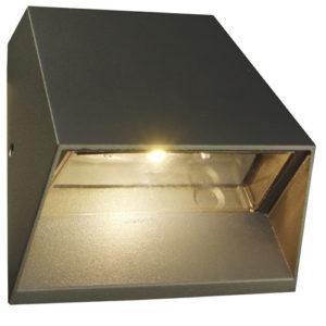 Éclairage interieur -TRIUM - 6W - alu / plexi - 480lm - 3000K - 125mm x 125mm x 63,5mm - graphite