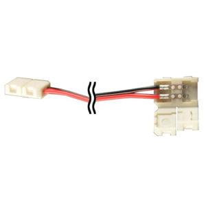 Éclairage interieur -Double end connector avec câble pour LED strip flexible SMD3528 - 8mm