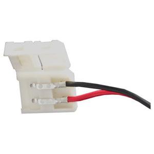 Éclairage interieur -Single end connector avec câble pour LED strip flexible SMD5050 / SMD5630 - 10mm