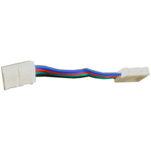 Éclairage interieur -Double end connector avec câble pour RGB LED strip flexible SMD5050 - 10mm