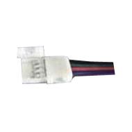 Éclairage interieur -Single end connector avec câble pour RGB LED strip flexible SMD5050 - 10mm