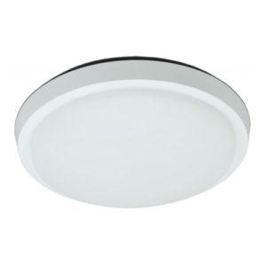 Éclairage interieur -KALIS - 30W - acier / plexi - 2650lm - 3000K - dia 254mm x 47mm - blanc bril.