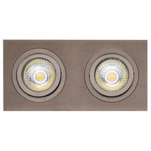 Éclairage interieur -ZOOM I spot encastré - 2x 5W GU10 - alu - 190mm x 95mm x 90mm- bronze