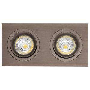 Éclairage interieur -ZOOM II spot encastré - 2x 5W GU10 - alu- 190mm x 95mm x 90mm- bronze