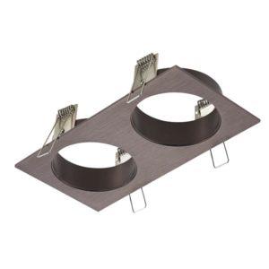 Éclairage interieur -ZOOM BASE - base encastré 2 lampes - alu - 190mm x 95mm x 90mm - bronze