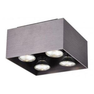 Éclairage interieur -KUBO - 4x GU10 5W - aluminium - 2700K - 180mm x 180mm x 110mm - bronze