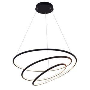 Éclairage interieur -BOA pendule - SMD Led - 88W - alu / plexi - 3000K - 3080lm - dimmable - noir