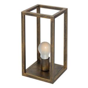 Éclairage interieur -KAGO lampe de table - 1x E27 - acier - max 60W - 200mm x 200mm x 405mm - rouille