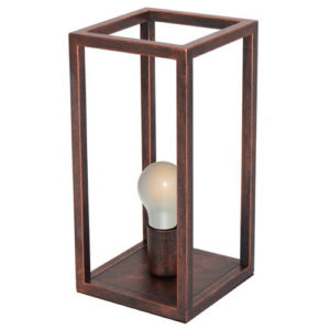 Éclairage interieur -KAGO lampe de table - 1x E27 - acier - max 60W - 200mm x 200mm x 405mm - ciuvre