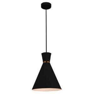 Éclairage interieur -KONO pendule - E27 - max 60W - acier - dia 250mm x 1545mm - noir / blanc