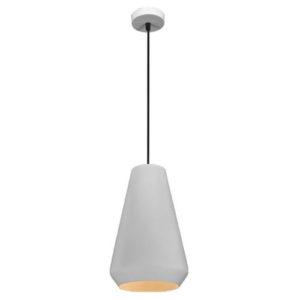 Éclairage interieur -KONO pendule - E27 - max 60W - acier - dia 200mm x 1555mm - blanc / blanc