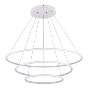 Éclairage interieur -ANNU pendule 3 anneaux - SMD Led - 99W - alu / plexi - 3000K - dimmable - blanc