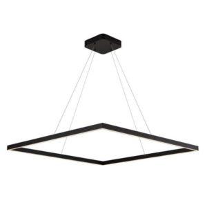Éclairage interieur -GURI pendule - 98W - alu/plexi - 3430lm - 3000K - 900mm x 900mm - dim - noir