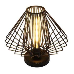 Éclairage interieur -DAXOS lampe de table - 1x E27 - max 60W - métal - Ø350mm x 320mm - noir